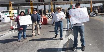 Protestas contra la subida de la gasolina en México.