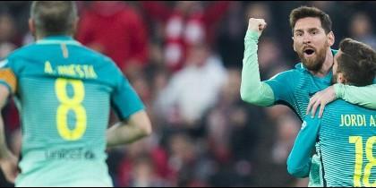 Los gritos contra el Real Madrid en mitad del Athletic-Barça