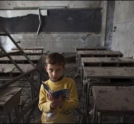 Una escuela destrozada en Alepo