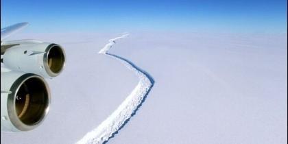 Grieta iceberg Antártida