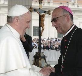 Omella, con el Papa Francisco