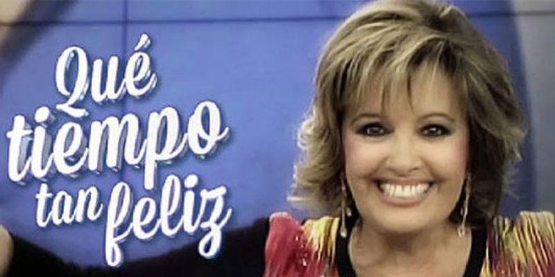 María Teresa Campos en 'Qué tiempo tan feliz' de Telecinco.