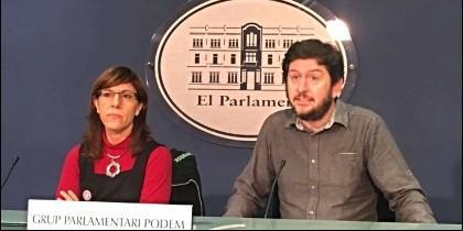 Los representantes de Podemos en el Parlamento de Baleares.