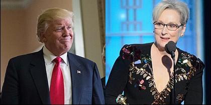 Donald Trump y Meryl Streep.