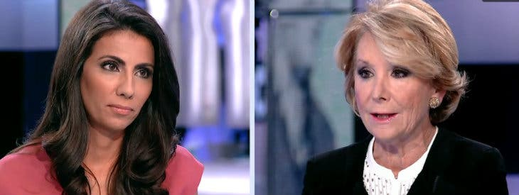 Ana Pastor entrevistando a Esperanza Aguirre.