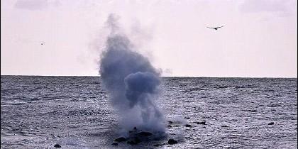 Volcán submarino El Hierro