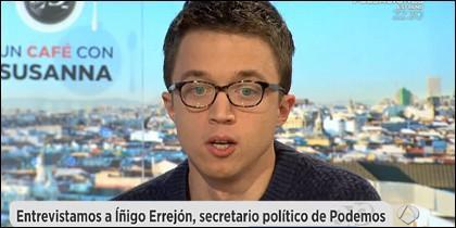 Íñigo Errejón entrevistado por Susanna Griso.