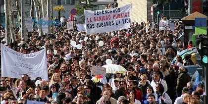 Imagen de la manifestación a favor de la sanidad pública en Salamanca
