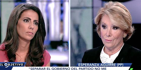 Ana Pastor y Esperanza Aguirre.