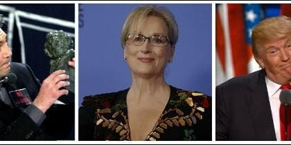 Javier Bardem, Meryl Streep y Donald Trump.