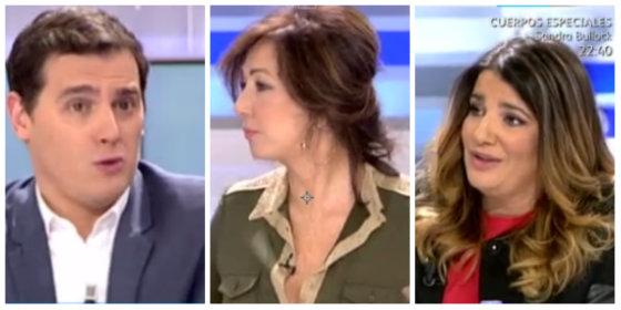Albert Rivera, Ana Rosa Quintana y María Claver.