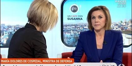 María Dolores Cospedal con Susanna Griso.