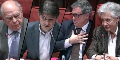 El clan Pujol en el Parlament de Cataluña.