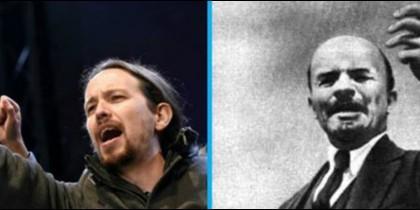 Pablo Iglesias y Lenin.