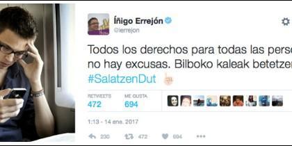 Íñigo Errejón y su miserable tuit.