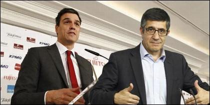 Pedro Sánchez y Patxi López (PSOE).