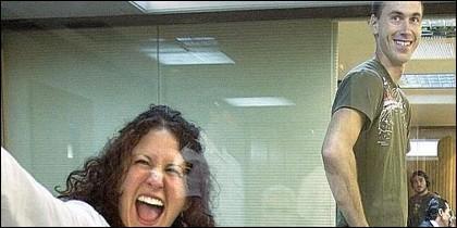 Los terroristas etarras Sara Majarenas y Mikel Orbegozo, durante su juicio en la Audiencia Nacional.