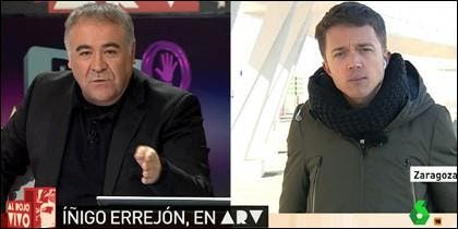 Antonio García Ferreras e Íñigo Errejón en 'Al Rojo Vivo'.