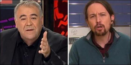 Antonio García Ferreras (LaSexta) y Pablo Iglesias (PODEMOS).