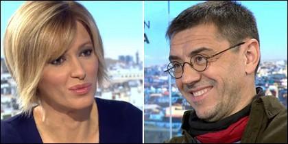 Susanna Griso y Juan Carlos Monedero.