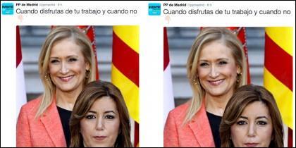 El polémico tuit del PP de Madrid.