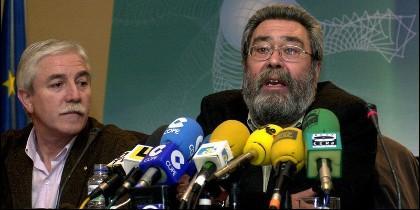 Cándido Méndez, acompañado del entonces responsable de UGT en Asturias, Justo Rodríguez Braga.