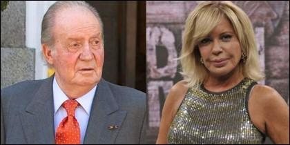 El Rey Juan Carlos I y la actriz Bárbara Rey.
