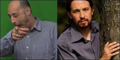Félix Álvarez 'Felisuco' y Pablo Iglesias.
