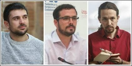 Espinar, Garzón e Iglesias.