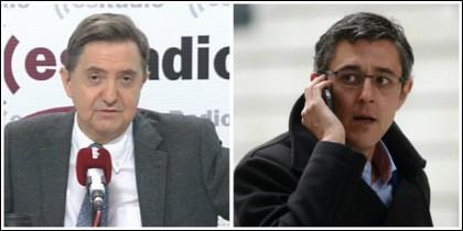 Federico Jiménez Losantos y Eduardo Madina.