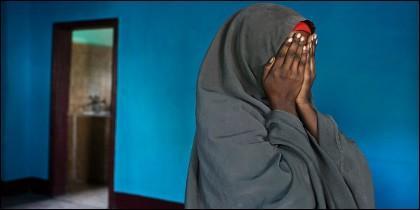 Una mujer somalí