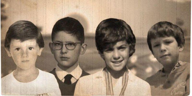 Albert Rivera, Mariano Rajoy, Pedro Sánchez y Pablo Iglesias, de niños.