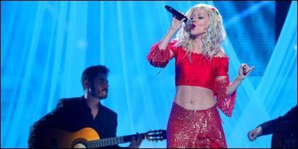 Beatriz Luengo fue Christina Aguilera en 'Tu cara me Suena' de Antena 3..