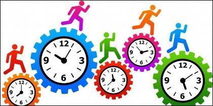 Horario laboral, empleo, puesto de trabajo, empresa, tarea.