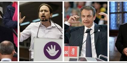 Trump, Iglesias, Zapatero y Puigdemont.