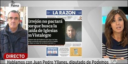 Juan Pedro Yllanes, la portada de La Razón y Carmen Morodo.