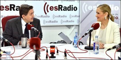 Cristina Cifuentes y Federico Jiménez Losantos.