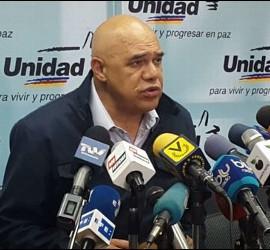 El secretario de la MUD, Jesús Torrealba
