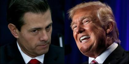 El presidente de México, Peña Nieto, y el de EEUU, Donald Trump.