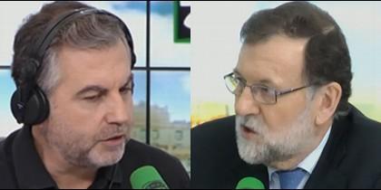 Carlos Alsina y Mariano Rajoy.