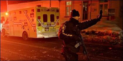 Atentado terrorista contra una mezquita en Quebec.