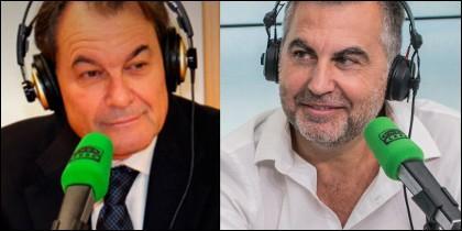 Artur Mas y Carlos Alsina.