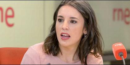 Irene Montero en 'Las mañanas' de Radio Nacional.