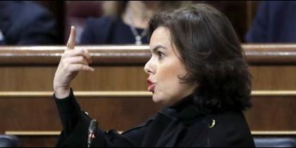 a vicepresidenta del Gobierno, Soraya Sáenz de Santamaría.
