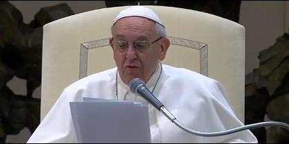 El Papa, en el Aula Pablo VI