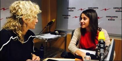 Mònica Terribas (CATALUNYA RADIO) con Inés Arrimadas (CIUDADANOS).