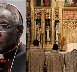 El cardenal Sarah y la misa tridentina