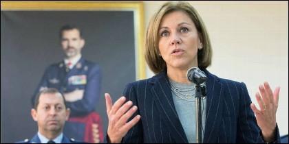 María Dolores Cospedal, ministra de Defensa de España.