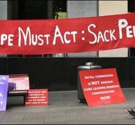 Protestas contra Pell en Australia