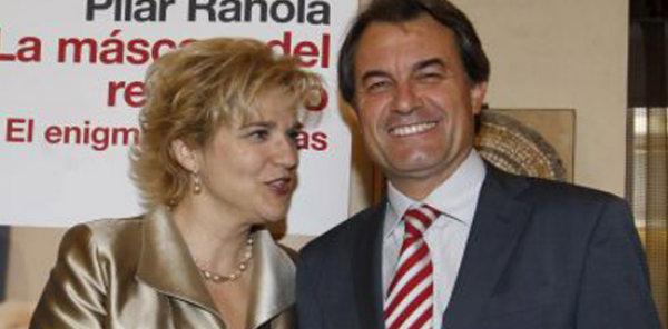 Pilar Rahola con Artur Mas.
